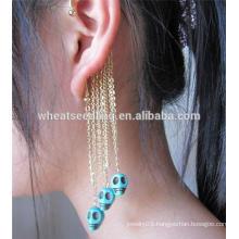 Fashion tassel earring skull ear hook