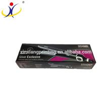 Подгонянный размер и логотип волос плоский Утюг выпрямитель Коробка упаковки с Вашим логотипом