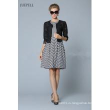 Новый Стиль Мода Плед Платье