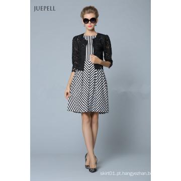 Novo estilo moda vestido xadrez
