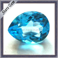 Beautiful Swiss Blue Natural Cut Pear Shape Topaz Stone