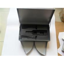 Caja de regalo de vino con caja de regalo de vino de inserción / cajón