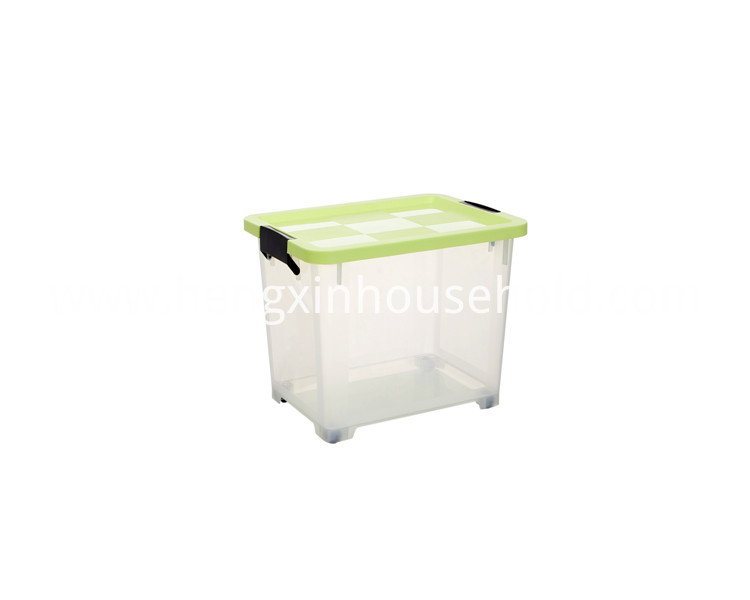 Plastic Stacking Box with Sliding Wheels