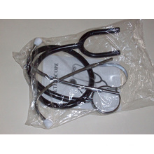 Estetoscopio / estetoscopio médico de aluminio o acero inoxidable de una o dos cabezas (XT-FL114A)