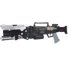 Regalo del muchacho pistola militar estupenda del juguete de la luz de la música del arma