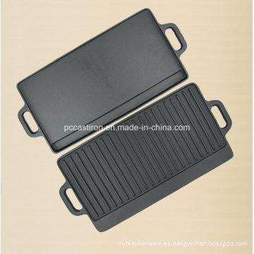Plancha de plancha de hierro fundido de Preseasoned Fabricante de China
