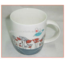 Nice 14OZ Porcelain Coffee Cup With Decal For BS130531F