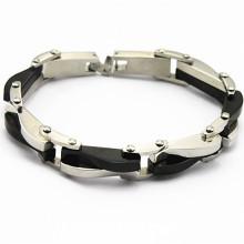 Boa qualidade grossista homens pulseiras de aço inoxidável, pulseiras de amizade por atacado