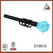 D19010 синий кристалл занавес штанга finials, декоративный хрусталь стекло занавес штанга finials для карнизов