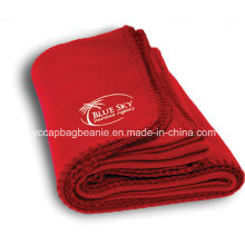 Promotional Blanket, Micro Fleece Blanket with Embroidery Logo