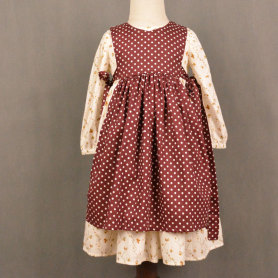 High Quality Long Sleeve Apron Boutique Kids Clothing