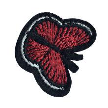 Mariposa roja bordada ropa parche accesorios personalizados