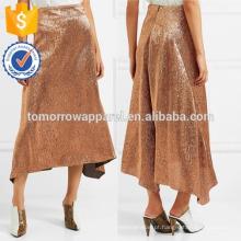 Nova Moda De Cobre De Seda-mistura saia DEM / DOM Fabricação Atacado Moda Feminina Vestuário (TA5159S)