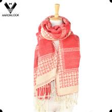 Nueva bufanda o chal tejido jacquard caliente caliente de gran tamaño 2016 del modelo