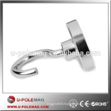 High Performnce D40mm Neodymium Magnet Hook 80 pound