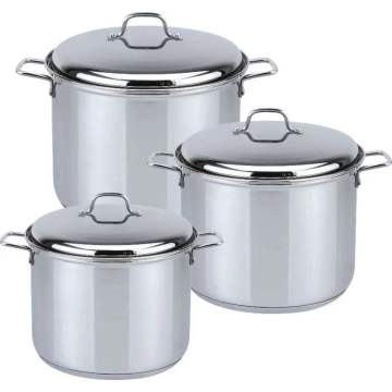 6pcs stock stainless steel pot