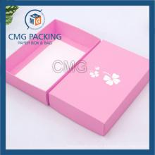 Boîte de papier d'habillement pliée bon marché avec le logo adapté aux besoins du client