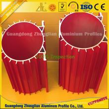 Dissipateur de chaleur creux adapté aux besoins du client en aluminium pour le radiateur en aluminium de clôture