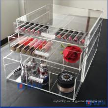 Caja de almacenaje cosmética acrílica del mejor servicio de la alta calidad