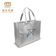 120g fashionable silver laminated pp non woven bag