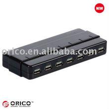 ORICO H7928-U2 Высокоскоростной концентратор Usb2.0 с мощностью 12 В 2А