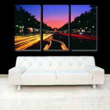Solvent Ink Canvas Print From Night City Scene Picture Painting For Home Decor