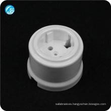 hot pressing 95 alumina ceramic wall socket for lamps glazed European