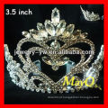 Moda Nova rainha de design de coroas de coração