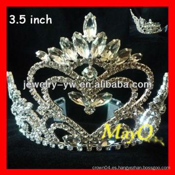 Moda Nueva reina de diseño de coronas de corazón