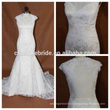 Видеть сквозь спинки кружева милая Русалка кружева свадебные платья