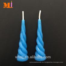 Poseer la planta nueve colores disponibles Vela azul claro del cumpleaños del cuerno del unicornio para la venta