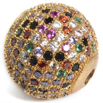 El cobre al por mayor con la joyería de la manera de los granos del Zircon cúbico 18 * 18m m
