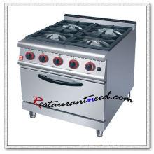 K064 Cocina de gas de 4 quemadores con horno o gabinete