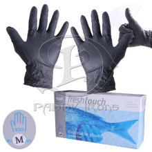 Black Tattoo Gloves Disposable Tattoo Glove M Size Tattoo Piercing 50 Pairs