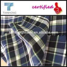 Tecidos/camisa algodão sarja tecida tecido/40 * 40/120 * 70 em sarja tecido xadrez de flanela