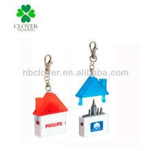 Casa, forma, mini, screwdriver, keychain, medida