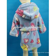 Großhandel Kinder Altersgruppe Blau gedruckt Stil Fleece Bademantel