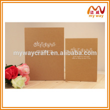 High quality kraft paper hardcover notebook,wholesale different size notebooks