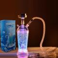 2021 Aierbaita Wholesale Cheap Custom Arcylc Plastic Hookah Portable Hookah Cup Shisha Travel LED Light Car Shisha