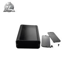 customized height width size black aluminium box profile