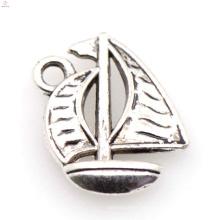 Charme de navio de liga de prata de chegada nova, liga de prata jóias de charme de barco