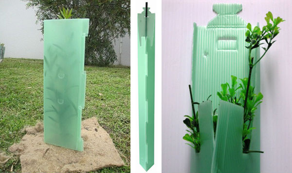 Fluted Plastic Tree Guard