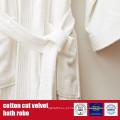 Veste de banho de veludo de corte de algodão 100%
