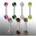 Floral Designs Acrylic Ball Straight Barbell Bar