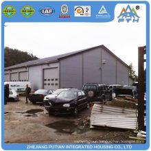 Cheap new design sliding window steel structure car garage