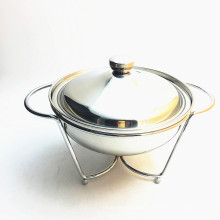 Stainless Steel Table Buffet Food Warmer Lamp Glass Lid Chafing Dish