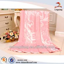 High-grade 100% Bamboo fiber jacquard blanket