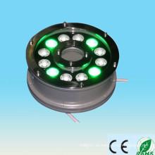 Alibaba nuevo producto expreso en el mercado de China 100-240v 12V 24V 9w 12w ip65 12w rgb llevó iluminado fuente de agua flotante