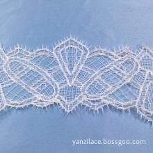 White Saree Thin Lace Trim Ribbon
