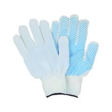 13G Polyster / Nylon Liner guante de trabajo con PVC punteado